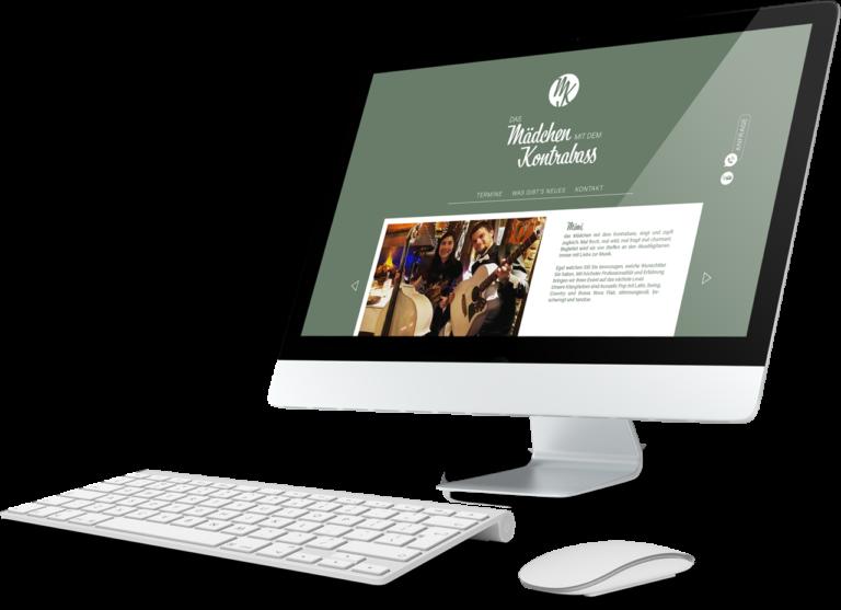 Beispiel einer Website-Gestaltung